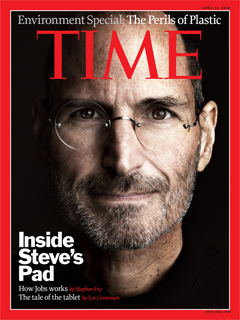 Steve Jobs on the Cover of Time magazine, April 12, 2010