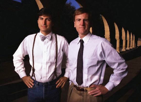 Steve Jobs and John Sculley