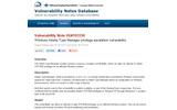 CERT/CCによる脆弱性情報の画像