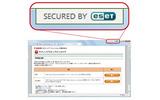 インターネットバンキング保護機能により、セキュアな状態のWebブラウザの画像
