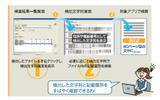 検出文字列簡単チェック機能のイメージの画像