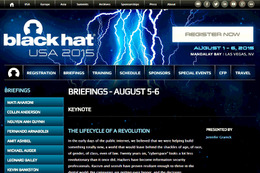 Black Hat USA 2015 Briefings 詳細ページ