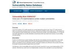VoLTEの実装に複数の脆弱性、悪意のあるアプリで勝手な通話も(JVN) 画像