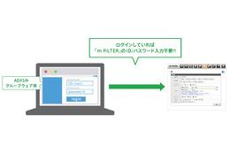 シングルサインオンに対応した「m-FILTER」新バージョンを発表(デジタルアーツ) 画像