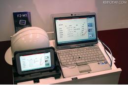 情報の共有は、現場作業員&スタッフなどのタブレット端末やPCとも共有できるため、正確かつ迅速な災害時の情報収集や遠隔地からの指示出しを可能にする(撮影:防犯システム取材班)