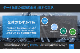 LEADERSに該当する日本企業はゼロ、ADOPTERSが1%であった