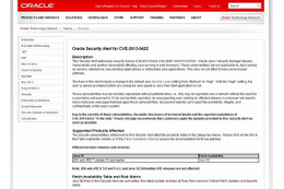 Oracle Security Alert for CVE-2013-0422