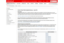 「Oracle E-Business Suite」にパスワード漏えいの脆弱性(JVN) 画像