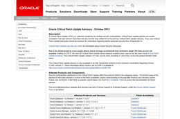Oracle は、本脆弱性を Oracle Critical Patch Update Advisory - October 2013 で修正している