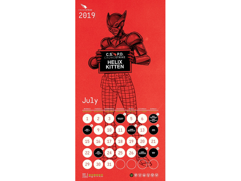 CrowdStrike Adversary Calender 2019 年 7 月