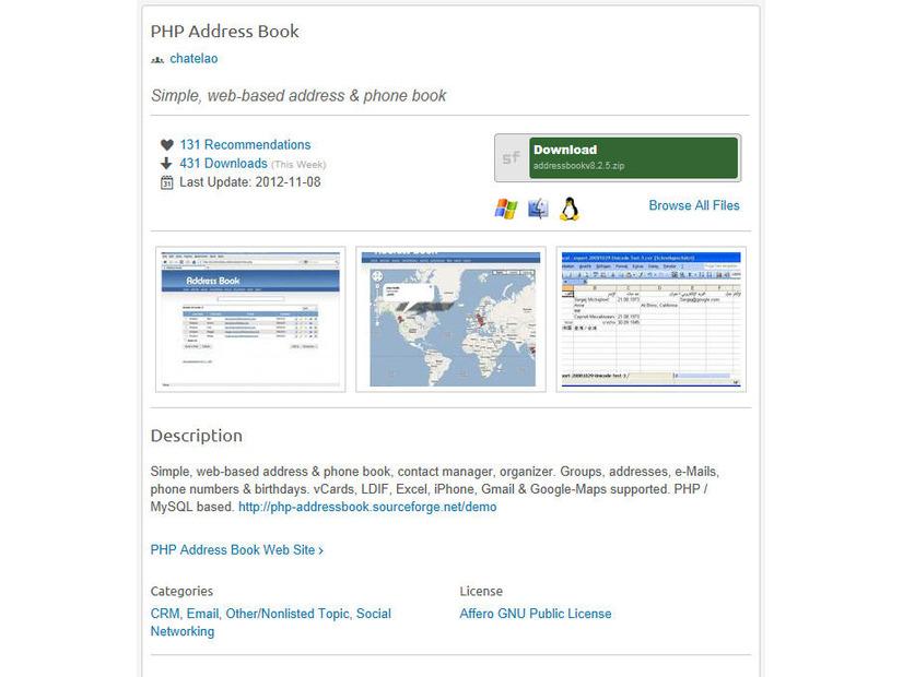 php address book に未対応のsqlインジェクション脆弱性 jvn