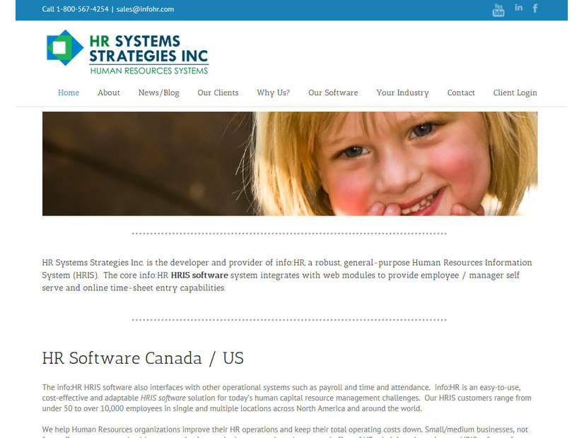HR Systems StrategiesのWebサイト