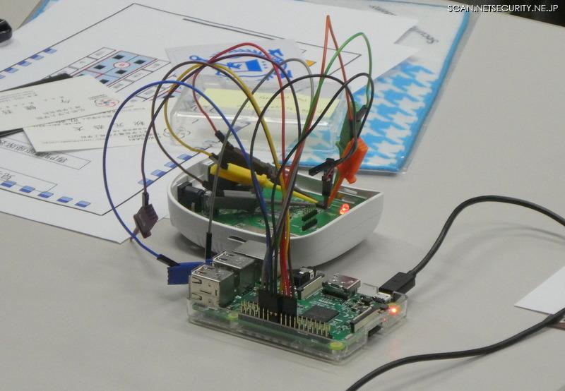 ジャンパーテストリードでRaspberry Piと接続