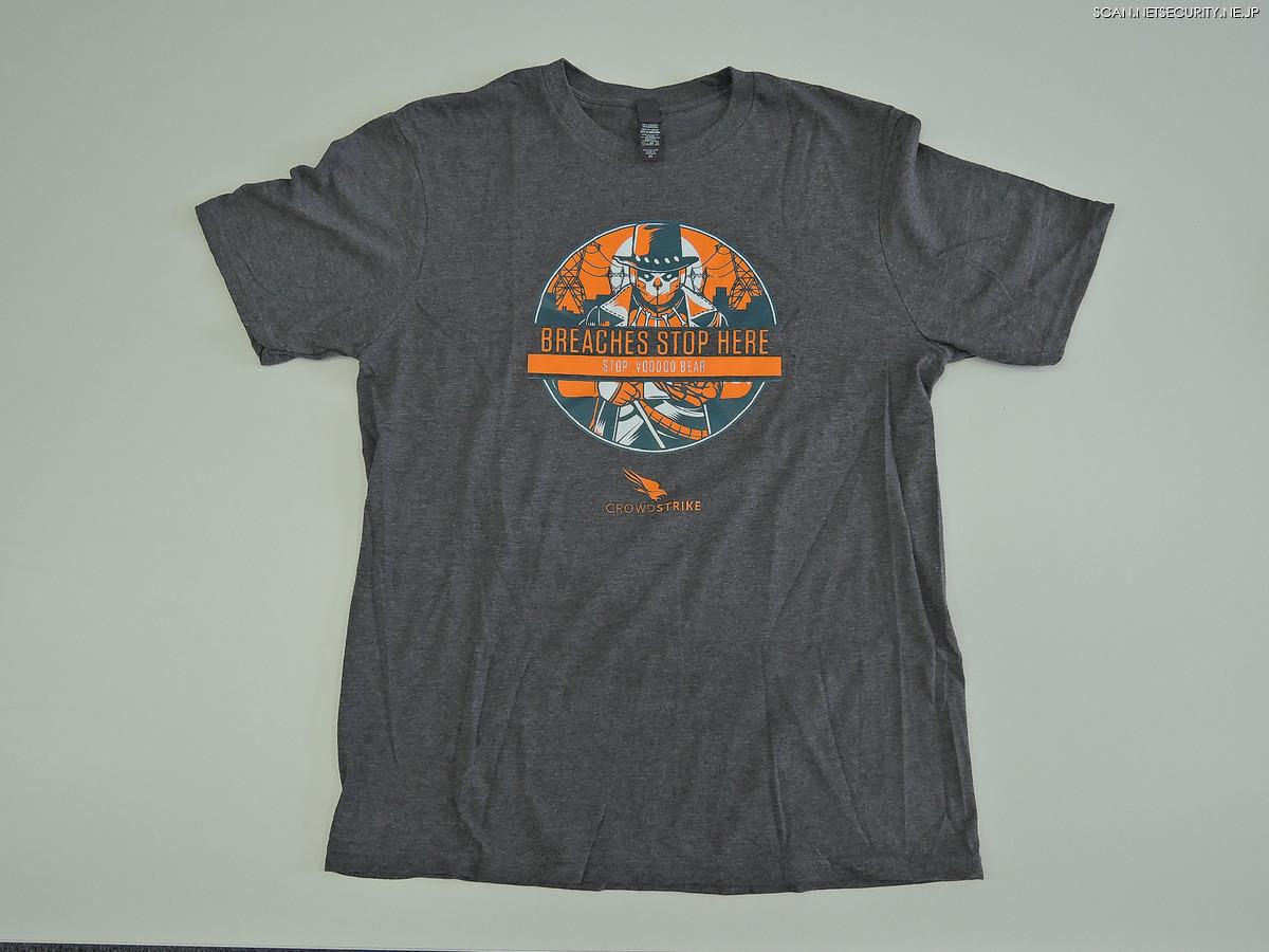 【5】CrowdStrike社オリジナルTシャツ(メンズMサイズ)