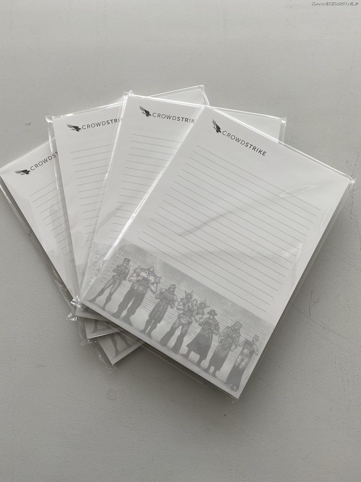 クラウドストライク社メモパッド(10冊)