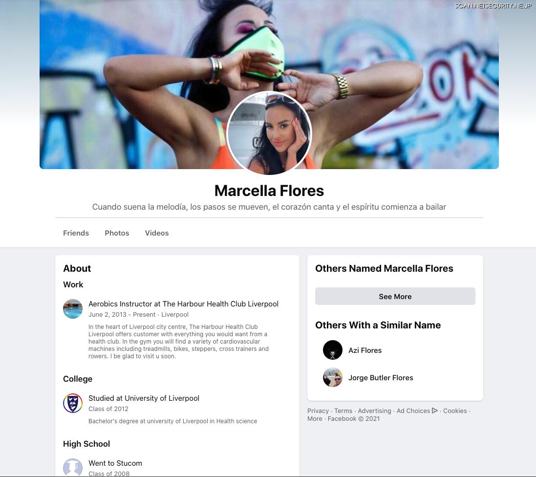 図4.マルセラ・フローレスの Facebookページ